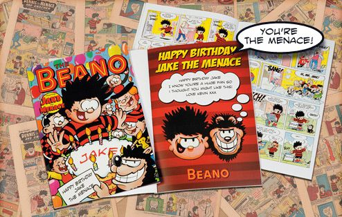 The boisterous story is based around your Menace's birthday party. There's no end to the mischief and the mayhem, as the Menace goes about wrecking havoc left, right and centre. As you'd expect, it's in full-on Beano comic book-style and includes all their favourite Beano characters. Gnasher obviously crops up, along with Minnie the Minx, Roger the Dodger, Walter and the Bash Street Kids. #childrensbooks #personalisedbooks #giftsforchildren