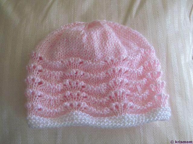 Pink Baby Hat - Knit Baby Hat  (Preemie/18 mos) - by Bernat Design Studio
