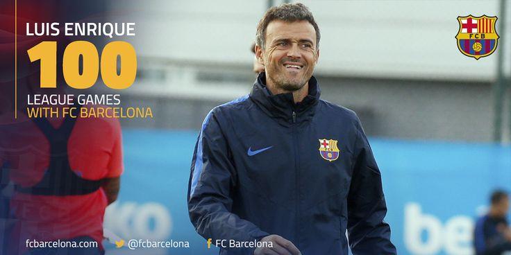 100ème match de Liga pour Luis Enrique sur le banc du FC Barcelone.  L'entraîneur espagnol du Barça atteint cette barre symbole avec 75% de victoires dans le Championnat d'Espagne !