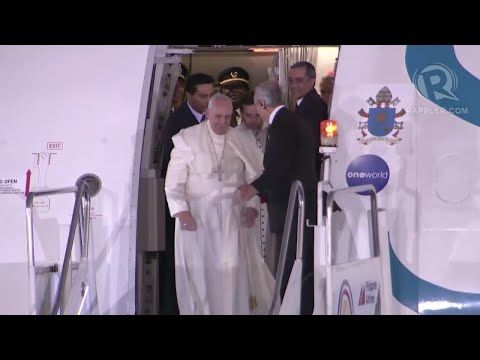 Pope Francis arrives in the Philippines PEOPLES POPE NG PILIPINAS - YouTube