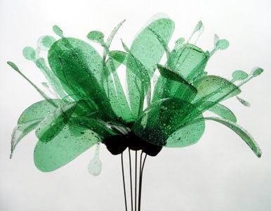 Plastic bottle flower, green, recycle | Upcycled Plastic Bottle Crafts | Pinterest | Idéer