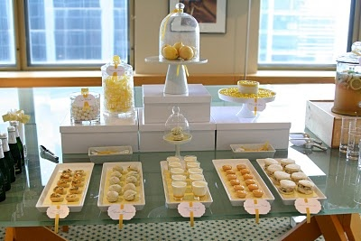 host a lemon-themed (from cocktails through numerous desserts) dinner party