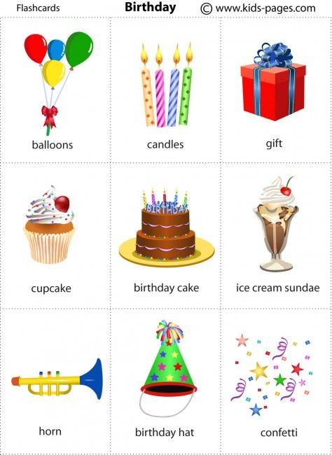 kids pages birthday vocabulary pinterest birthdays kids pages and flashcard. Black Bedroom Furniture Sets. Home Design Ideas