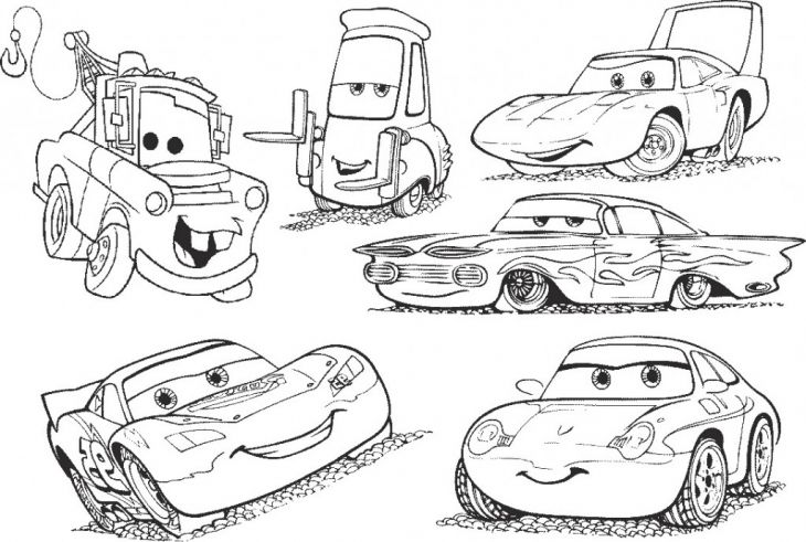 All Disney Cars Characters Coloring Page Printable For Kids