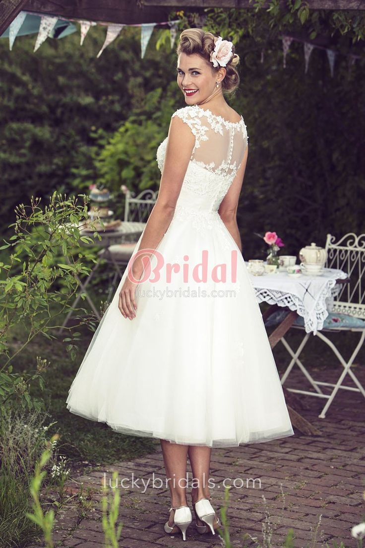 Tea Length Wedding Dresses for Sale - Wedding Dresses for Plus Size Check more at http://svesty.com/tea-length-wedding-dresses-for-sale/