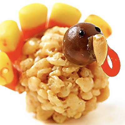 Pepare this turkey for #Thankgsgiving and you'll be the talk of the town   Peanut Butter Rice Crispy #Treats