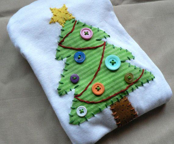 Apliques Christmas Holiday Tree mono o camisa eliges por ohmelisa