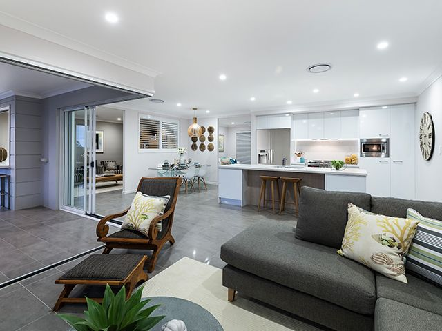 Open Plan Liveing Areas. Ausbuild Denham Display Home. See website for display locations. www.ausbuild.com.au