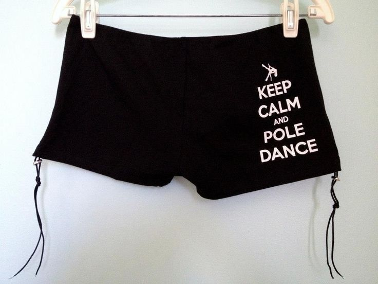 Back detail of our Perfect Pole Shorts with our Keep Calm and Pole Dance artwork. Available in black, women's sizes xs-xl. Cotton with a bit of spandex, breathable and easy to wash, LOTS of stretch and great coverage. Adjustable scrunch and tie sides allow you to change the look for something modest or a little cheeky. $22 USD + shipping (prices vary depending on whether you are in the US or international). Shop now at www.etsy.com/shop/poleiticalclothing