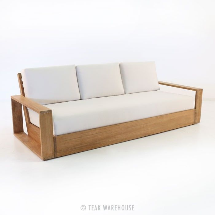 Teak Warehouse   Kuba Teak Outdoor Sofa