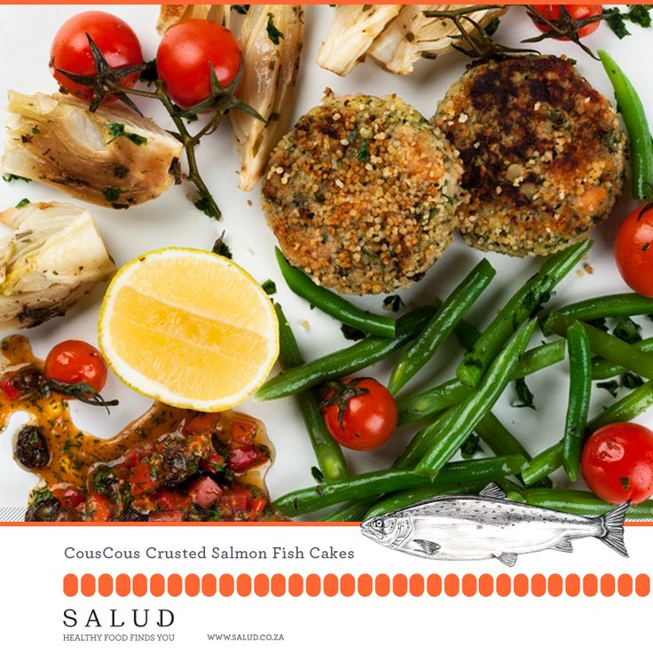 Cous-Cous crusted fishcakes   Healthy prepared take home meals delivered to you.   www.salud.co.za