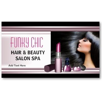 business card black hair beauty salon spa