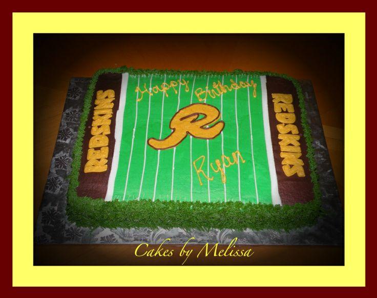 Redskin Birthday Cake - Redskin Birthday Cake