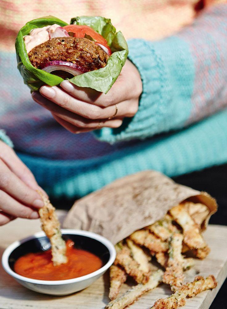 Feta and Black Bean Burgers | Melissa & Jasmine Hemsley