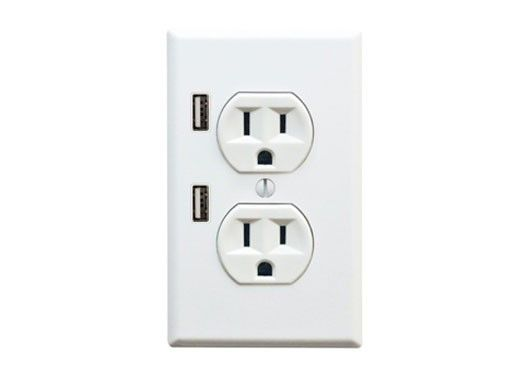 outlet with USB charging ports