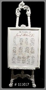 Easel White 63 inch with frame  111017