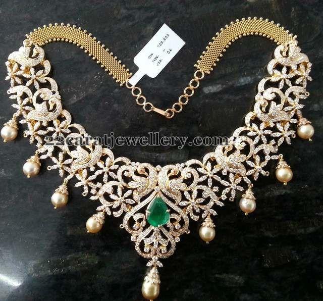 Bridal Diamond Necklace And Haram Set: 62 Best Mango Mala Designs/ Mango Haram/ Mango Necklace