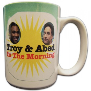 Troy & Abed Mug – Community      Troy and Abed in the morning!!!!! From the show Community, start your morning with Troy and Abed.  $15.00  I want this!