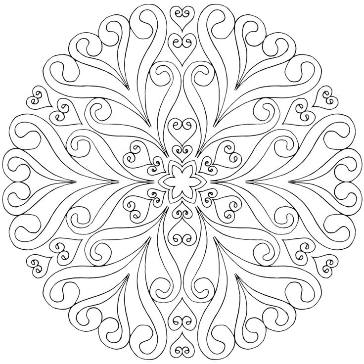 This is life in bloom a free mandala coloring page for you to print