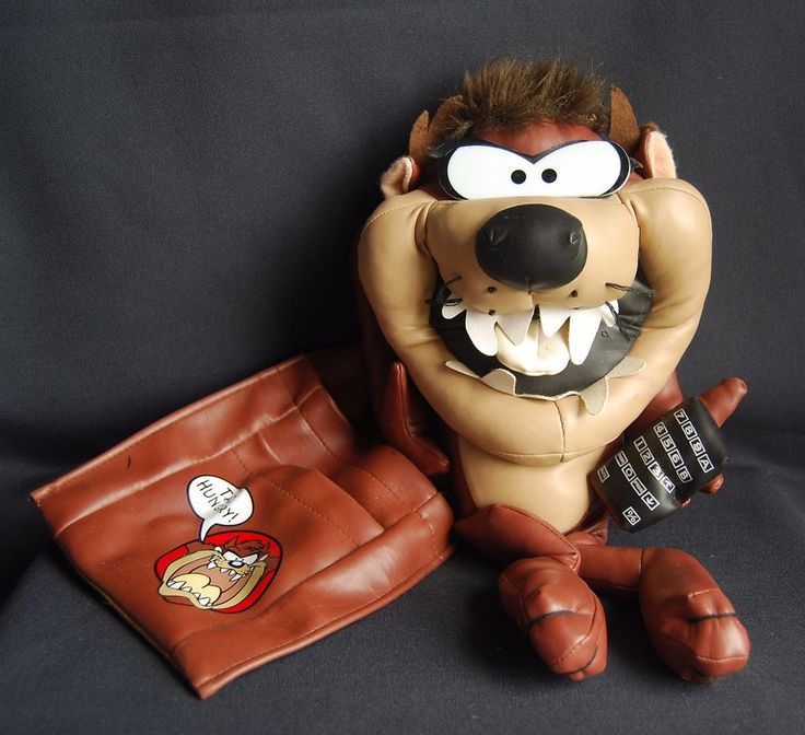 Taz Tasmanian Devil Warner Bro Stuffed Animal Remote Control Holder Large 1995 #Taz #WarnerBros #ManCave