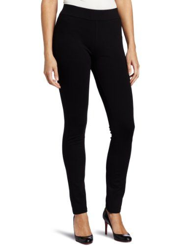 NYDJ Women's Petite Jodie Ponte Legging, Black, 6 Petite. Clean styling keeps this timeless. This pull on ponte knit is a perennial favorite. Look great in complete comfort. Size: 6P.