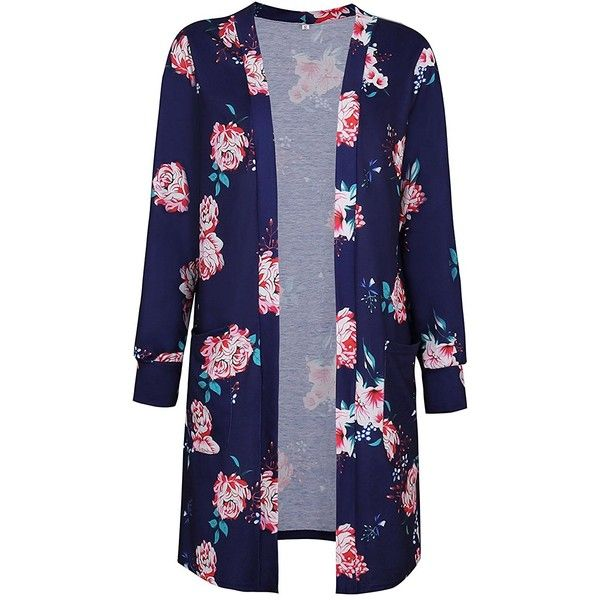 Style Dome Women Cardigan Floral Print Long Sleeve Coat Casual Coverup Tops Jacket Outwear Blouse Tunic Tops