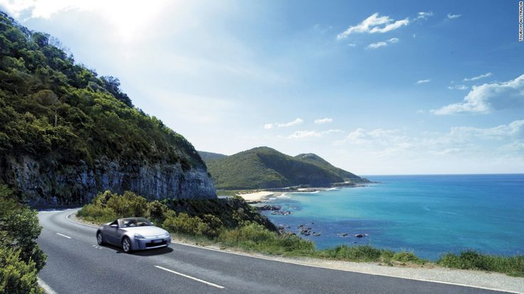Great Ocean Road: Contains sea, rainforest, cliffs and koalas.