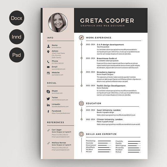 Clean Cv Resume II By Estartshop On Ready For Print Resume Template  Examples Creative Design And Great Covers, Perfect In Modern And Stylish  Corporate ...  Resume Design Templates