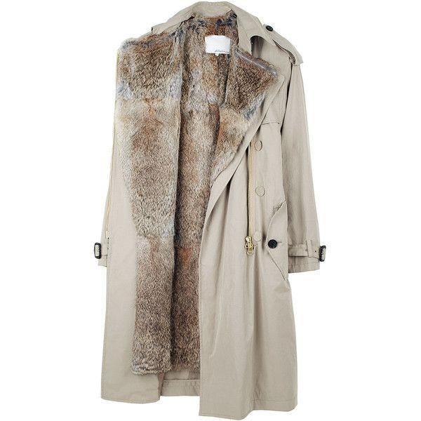 3.1 Phillip Lim / Trench w/ Rabbit Fur Lining (€510) found on Polyvore