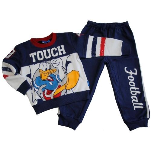 Tuta per Bambino Disney $35   http://www.allegribriganti.it/bambino/tuta-girocollo-bambino-disney-paperino-cotone-felpato-2-colori/