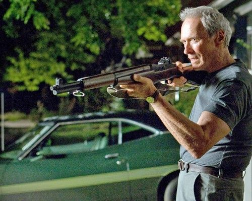 """I'll blow a hole in your face then go inside and sleep like a baby""   Clint Eastwood - Grand Torino"