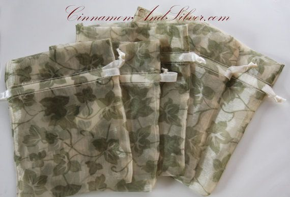 Wine Themed Organza Gift Bags Vineyard Party by CinnamonandSilver