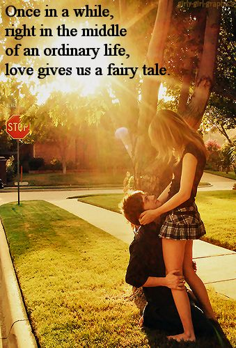 Love gives us a fairytale... love quote past future accept relationship lovequote support