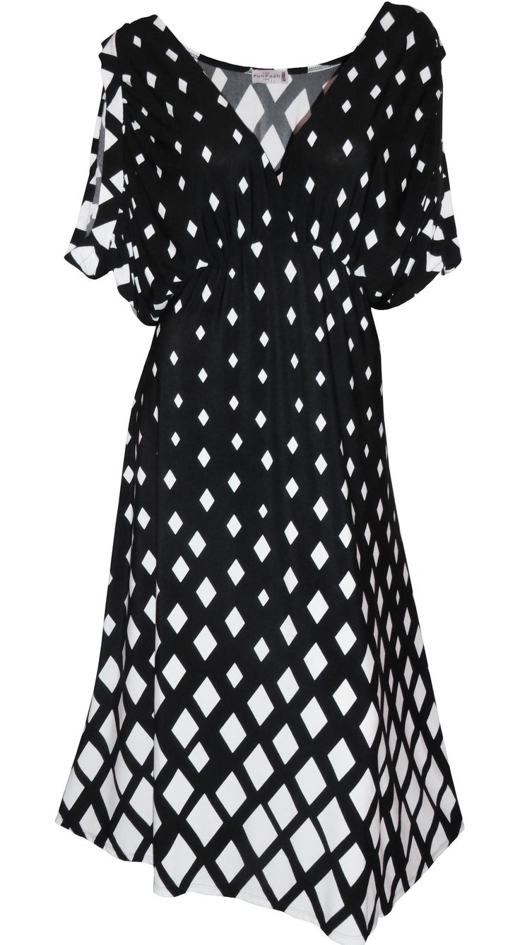 Funfash Plus Size Black White USA Women's Dress Plus Size Cocktail Dress