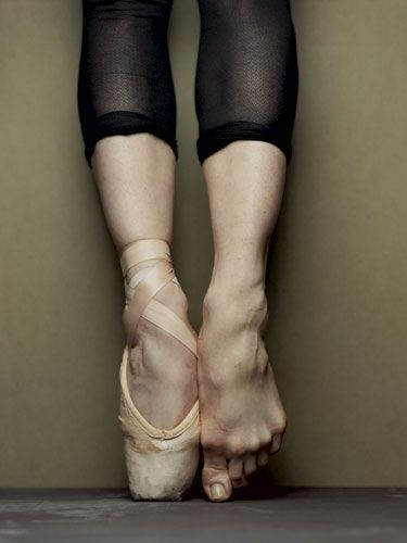 Upclose and painful.-true. my toes and joints are so jacked up from ballet.
