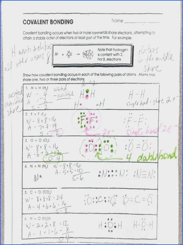 scojo262 Worksheet Chemical Bonding Ionic And Covalent ...