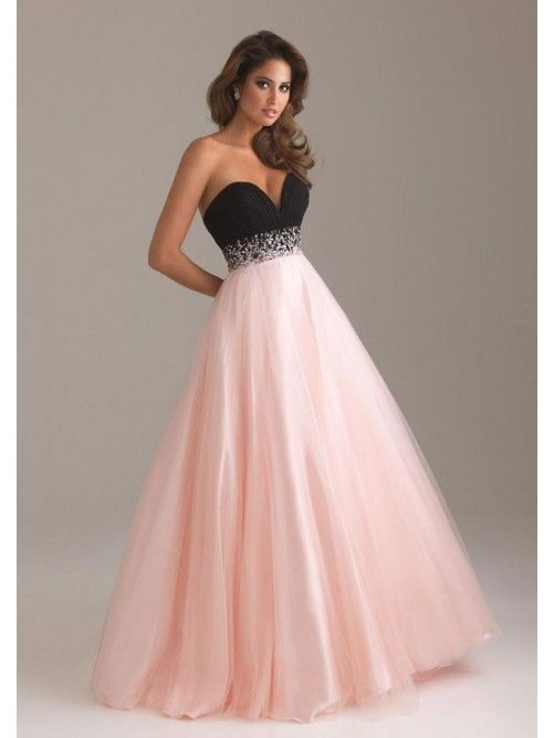 Ball Gown Sleeveless Beading Sweetheart Satin Floor-length Dresses