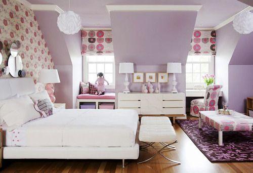 : Wall Colors, Little Girls, Girls Bedrooms, Bedrooms Design, Purple Rooms, Window Seats, Girls Rooms, Bedrooms Ideas, Kids Rooms