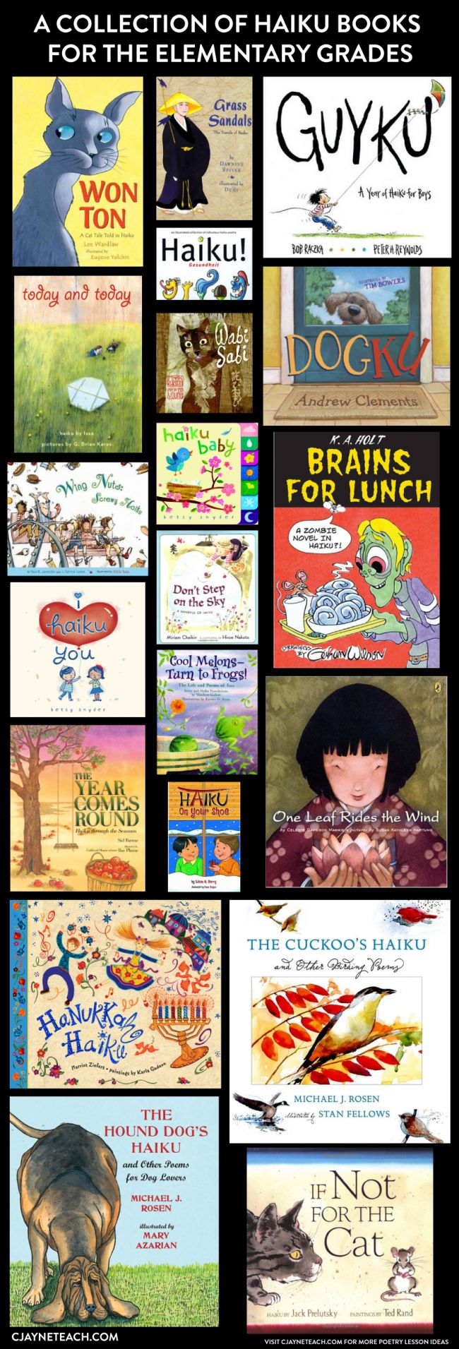 Haiku for kids! Great books to have in your poetry library.