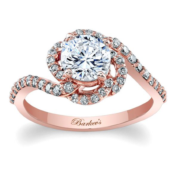 Unique rose gold and diamond engagement ring. #barkevs http://www.barkevs.com/engagement-rings/diamond-engagement-rings/rose-gold-engagement-ring-7982lpw.html