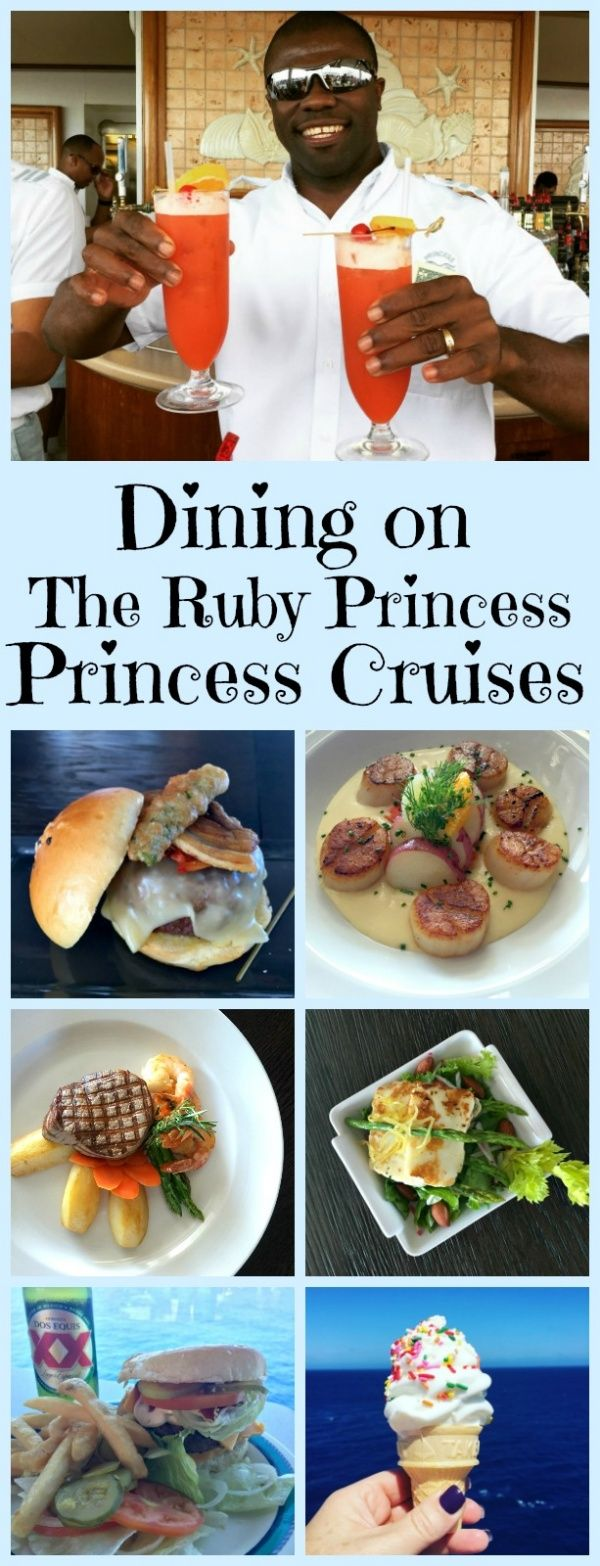 Dining on Ruby Princess - @recipegirl shares all of the options for casual and specialty dining and culinary experiences on board the ship