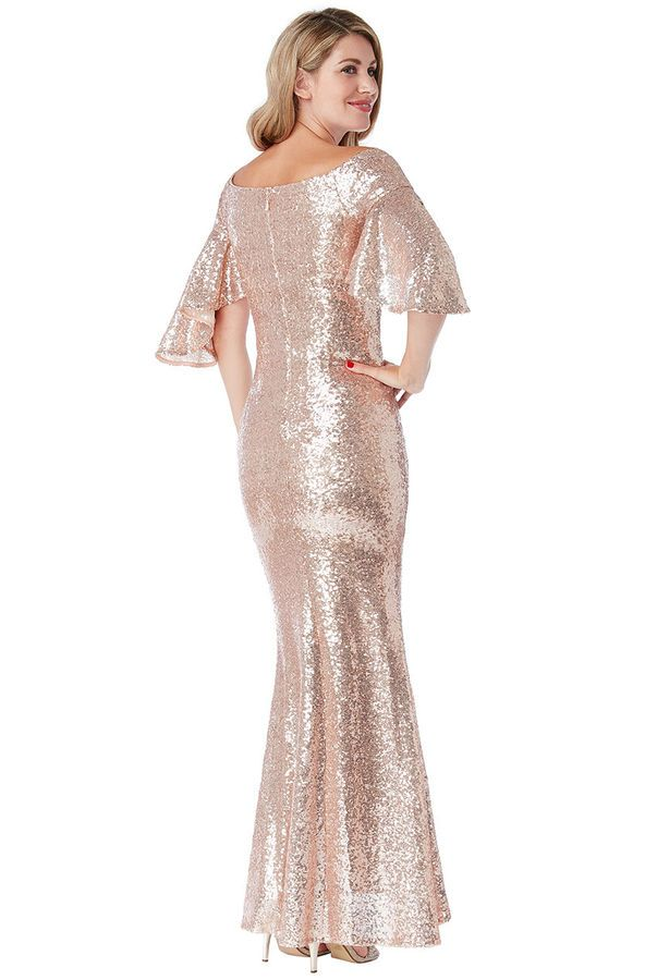 fab9ecc1 New Goddiva Champagne Sequin Off-Shoulder Maxi Prom Bridesmaid Party Dress(8 -16)#Shoulder#Maxi#Sequin