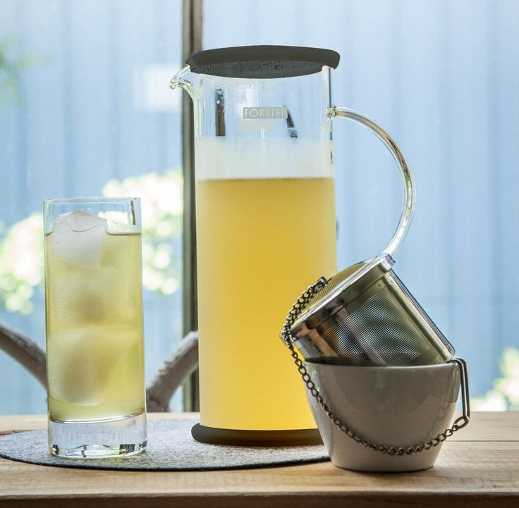 Glass Chilled Tea Brewer - Charcoal