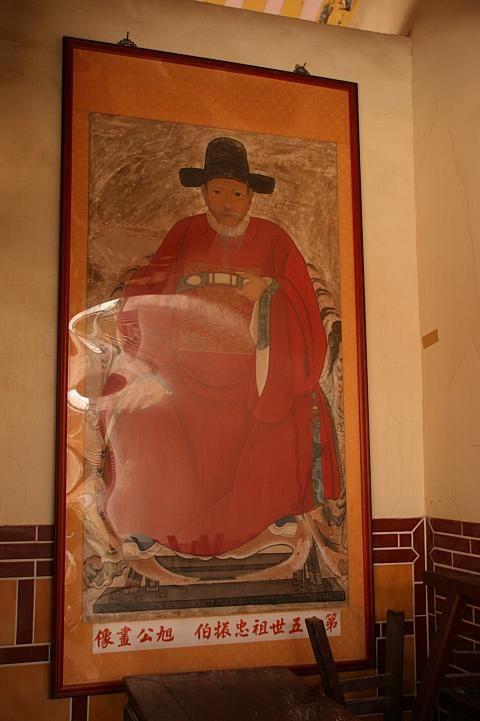 書画にも注目。洪旭の書画が飾ってあります。台湾おすすめの観光スポット、金門。