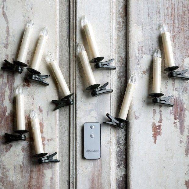 Clip On Candle Lights, Set of 10