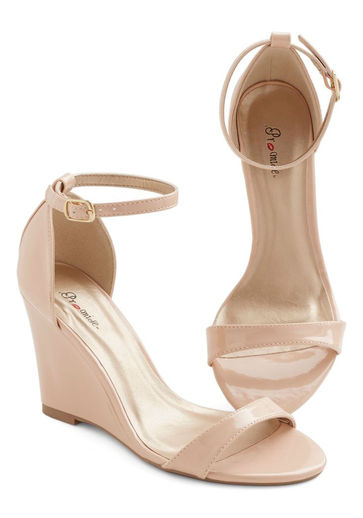 One Suite Day Wedge in Vanilla. A jetsetter like you needs travel-ready styles, such as this versatile vanilla-hued wedge! #cream #bridesmaid #modcloth