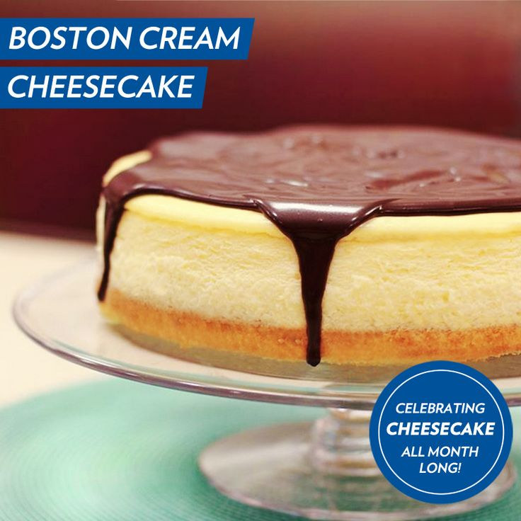 In honor of National Cheesecake Month, we've updated one of our favorite 1950's classics - Boston Cream #Cheesecake!