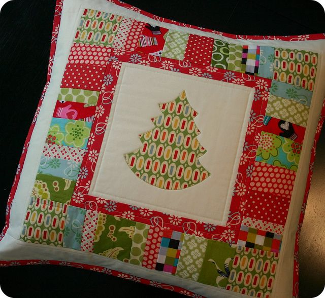 Tree Pillow - for Sew, Mama, Sew! Giveaway Day by twinfibers, via Flickr