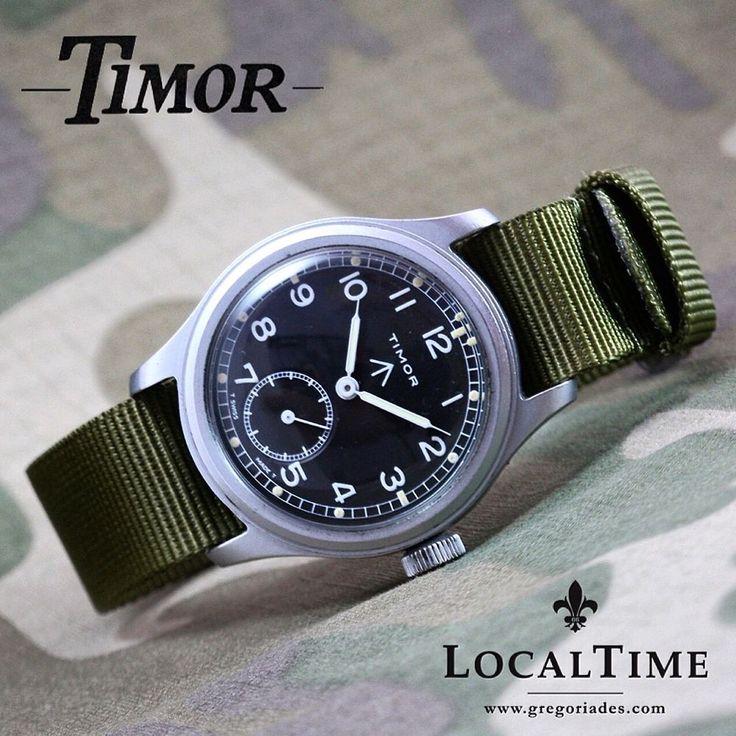 1940's TIMOR Swiss Dirty Dozen WWW MOD WW2 Vintage Military Watch AS Cal. 1203 #Timor #Military #dirtydozen