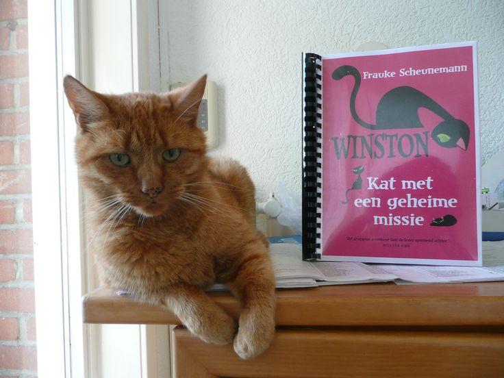 #winstonselfie van mijn kater Willem. Erg leuk boek voor de liefhebbers van Minoes.